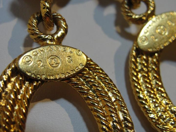 Vintage Chanel gold hoops on Tradesy