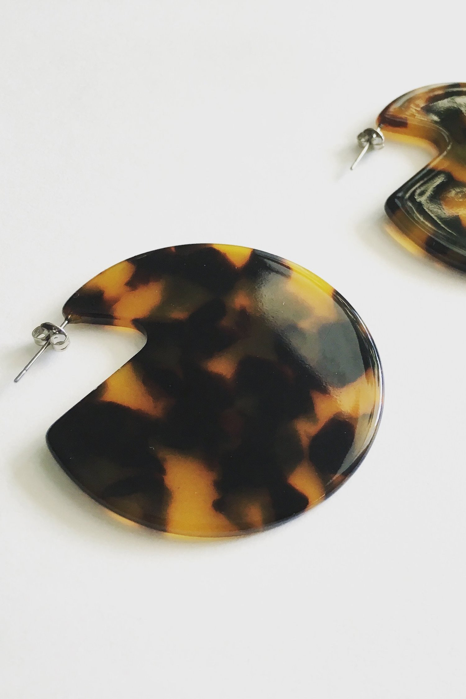 Clare Earrings in Classic Tortoise: $80 NZD from Mooma