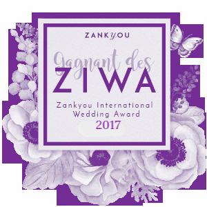 ziwa zankyou award wedding 2017 logo mariage faire-part