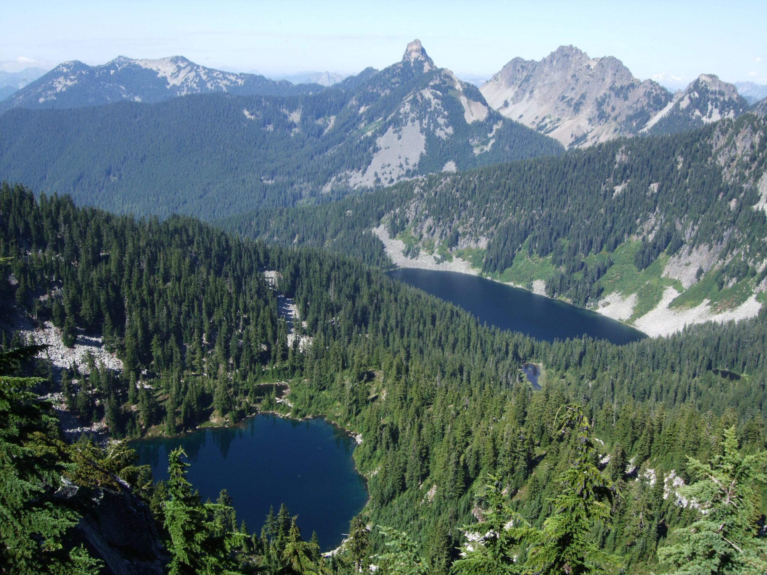 Pratt & Talapus Lakes from Granite Mountain, September 2013