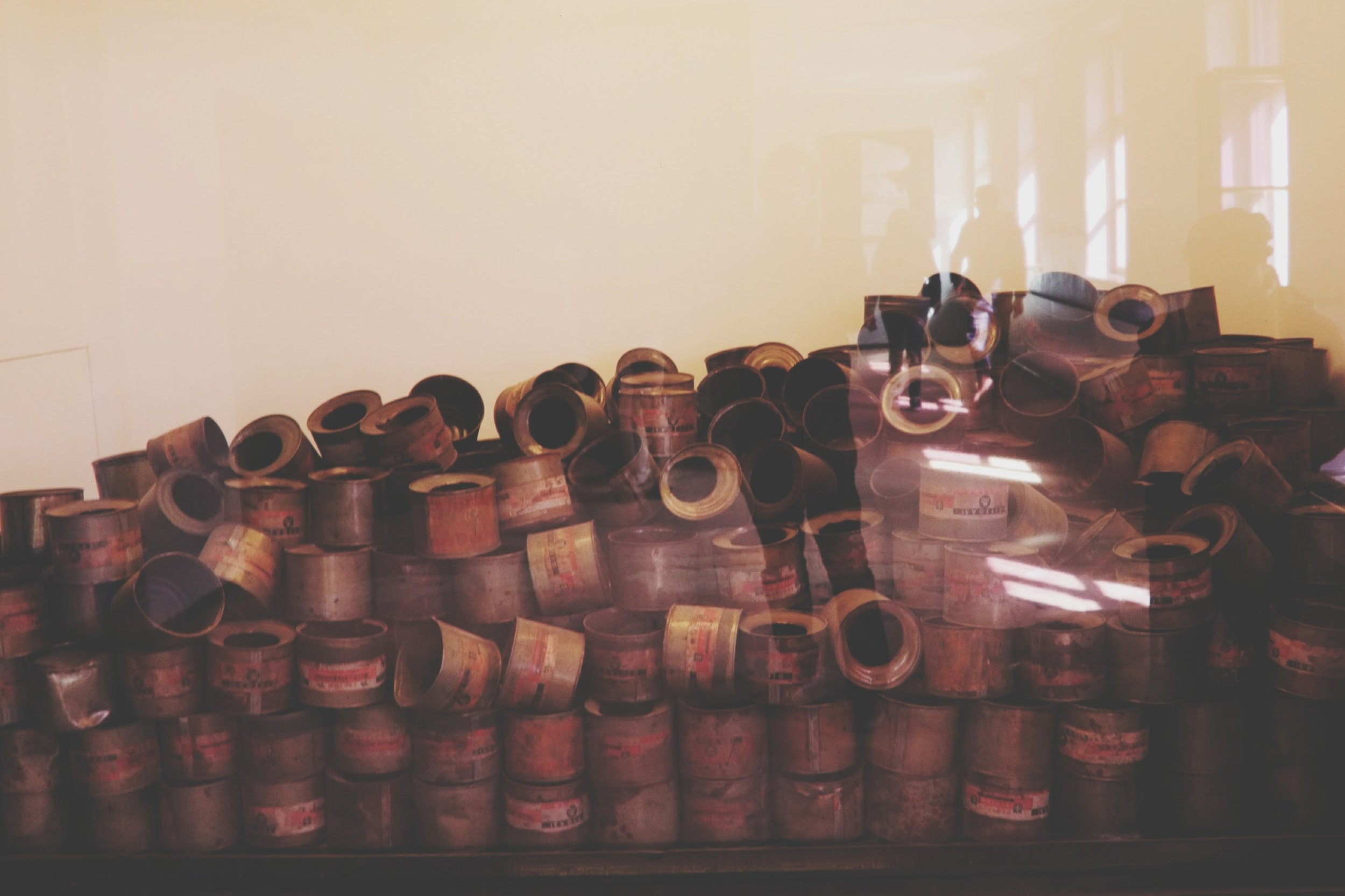 Some empty gas canisters