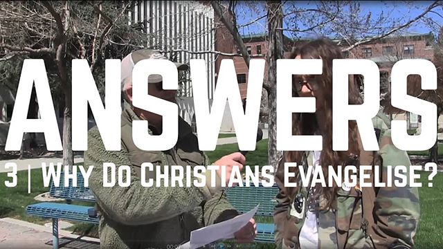 Why do we tell people about Jesus? Why don't we just keep it to ourselves? New video! Link in profile...