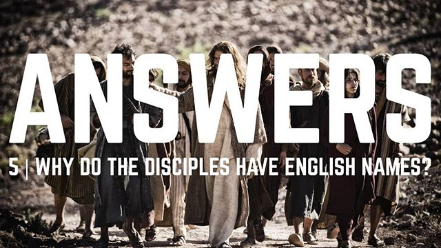 How did Jesus find disciples with English sounding names? It's a real meme so here's the real answer! Link in profile.