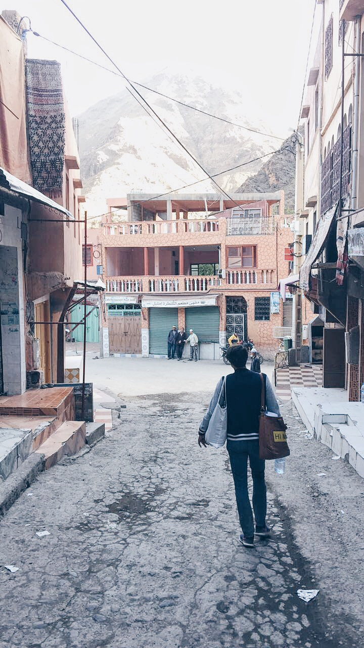 Small town of Imlil with Lily
