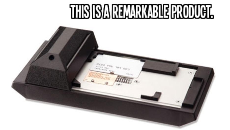 1970's card machine