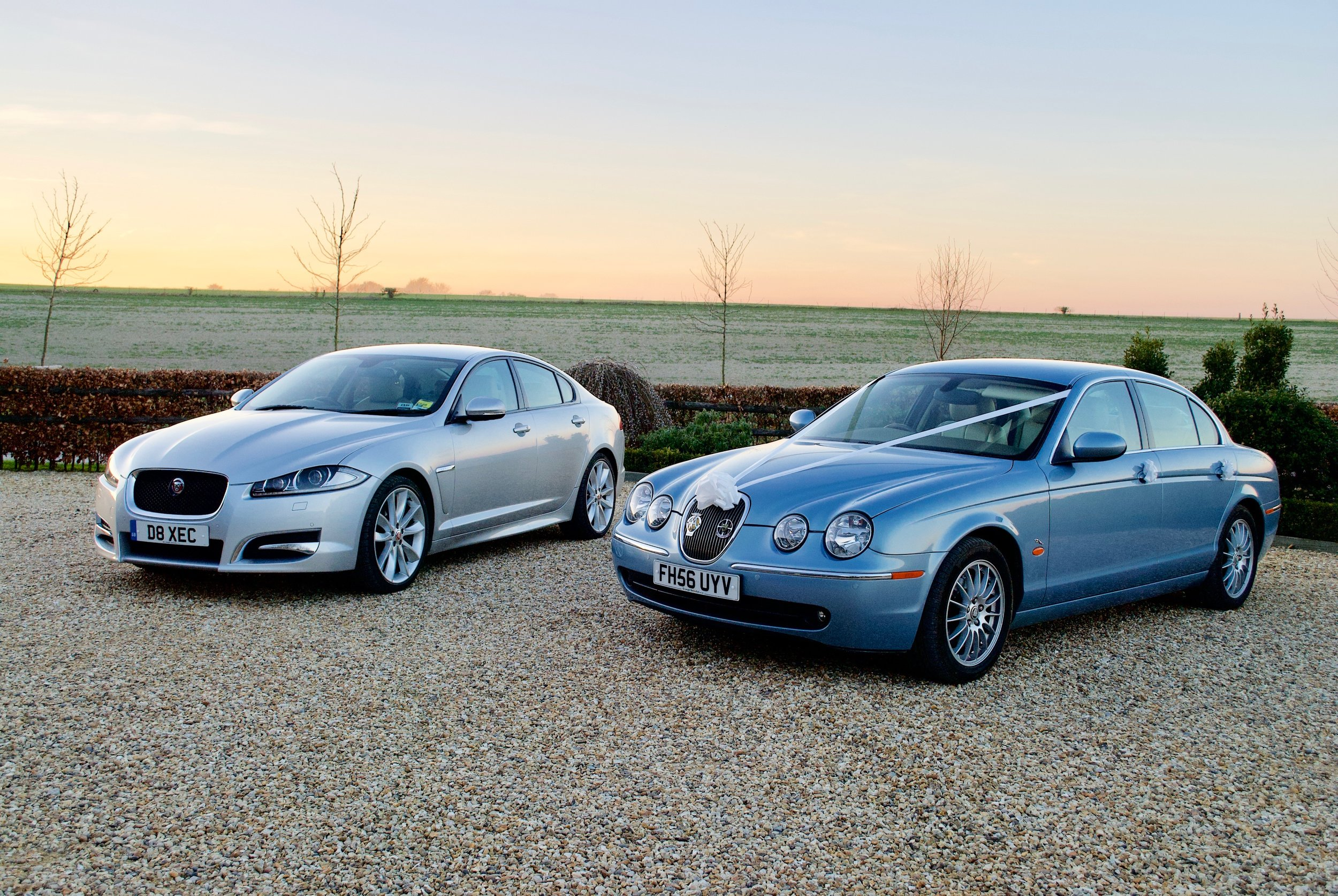 Jaguar XFS and Jaguar S Type Wedding Car