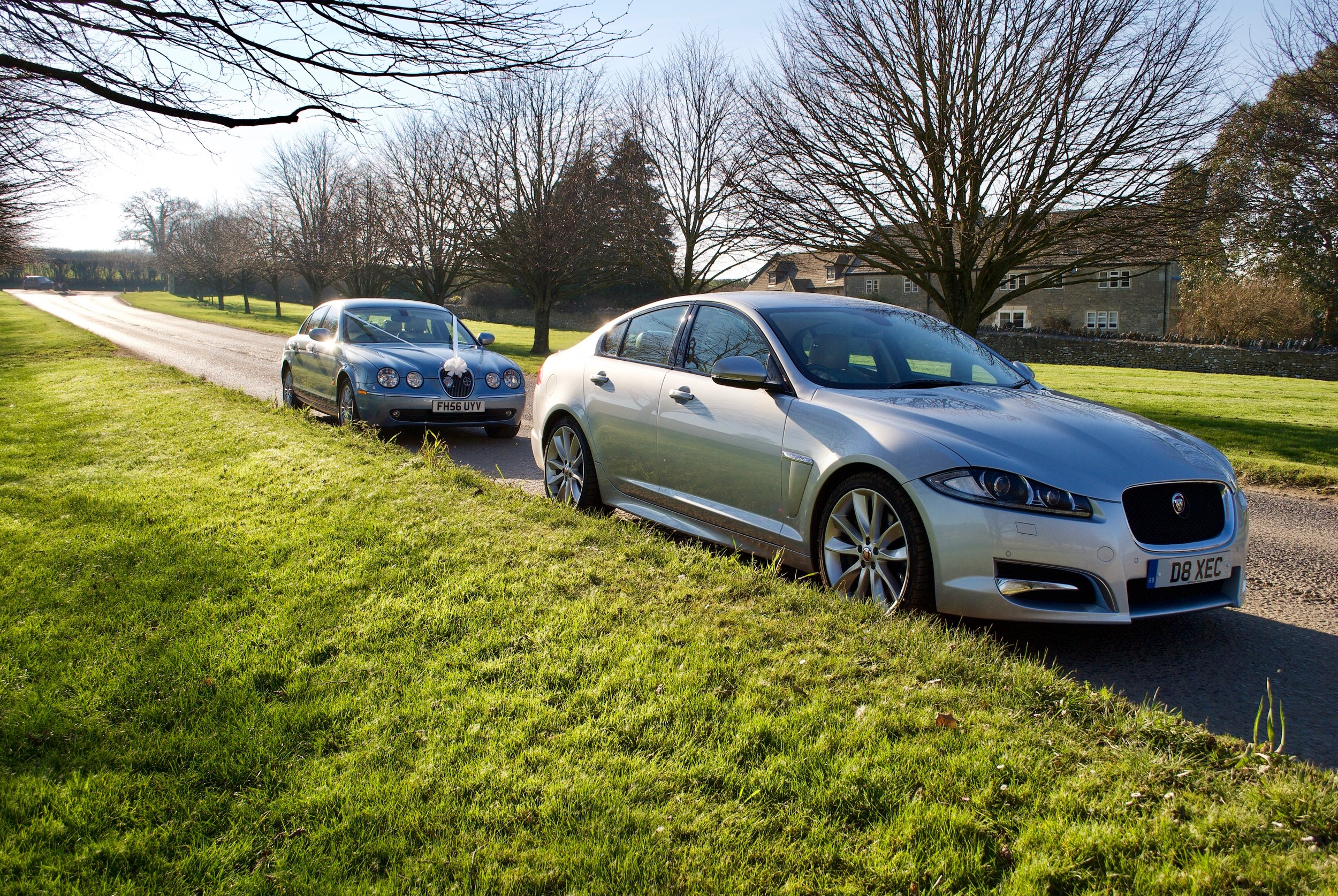 Jaguar S Type & Jaguar XFS at Cumberwell Park