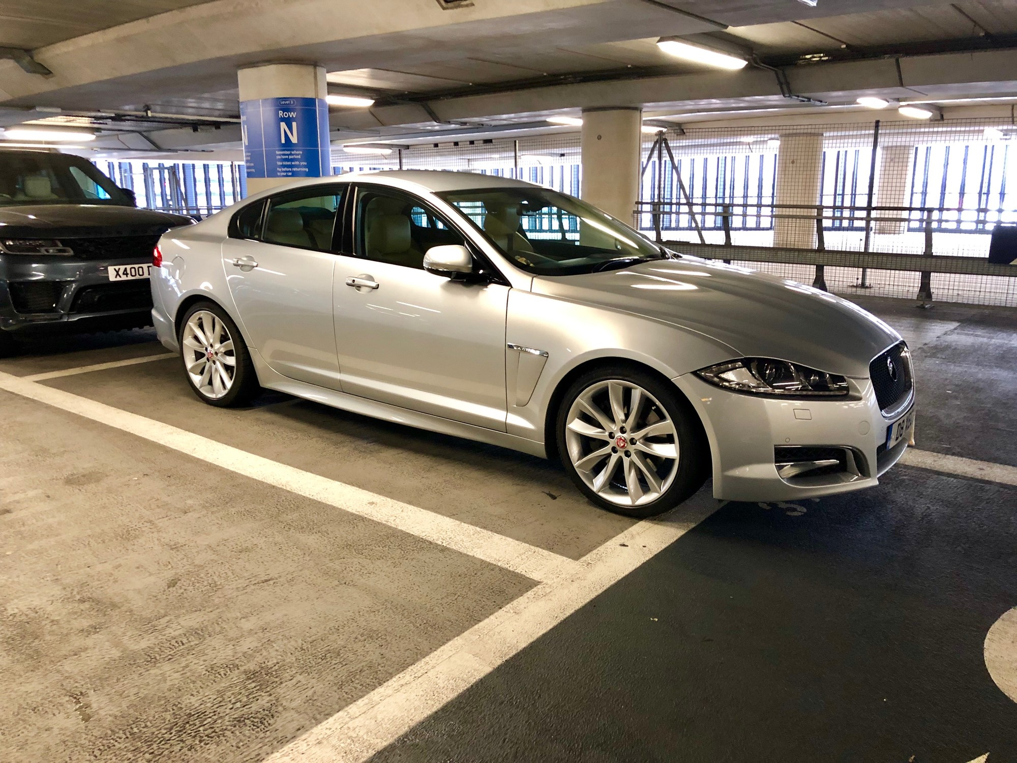 Jaguar XFS in a car park
