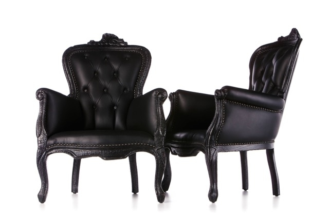 Smoke chairs, designed by Maarten Baas and produced by Moooi, employ traditional tufting and ornamental detailing in a new way— the frame itself is burnt, creating a beautiful juxtaposition between luxury and raw elements of destruction.  Image courtesy of moooi.com