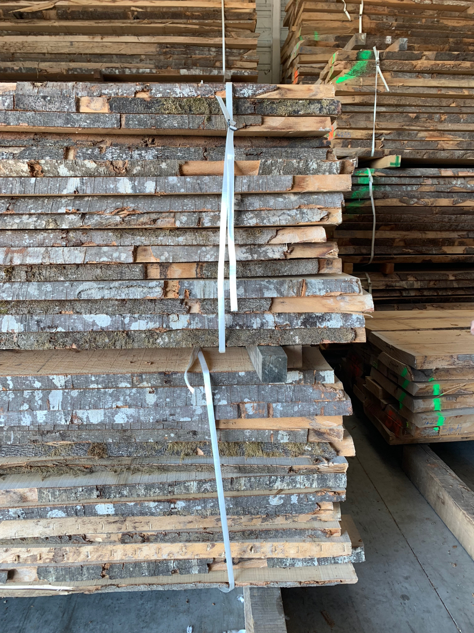 Hardwood from FSC-certified forests is left to dry for years prior to cutting.