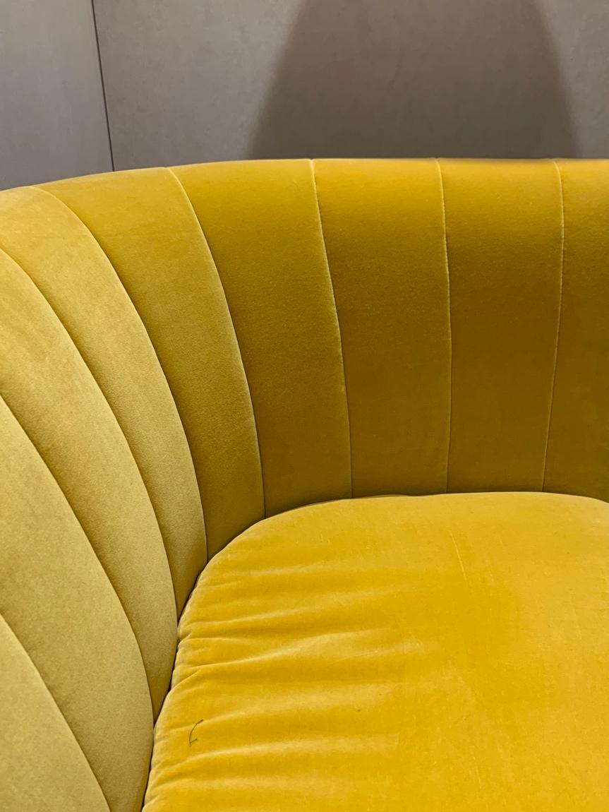 &Tradition: sculptural yellow velvet