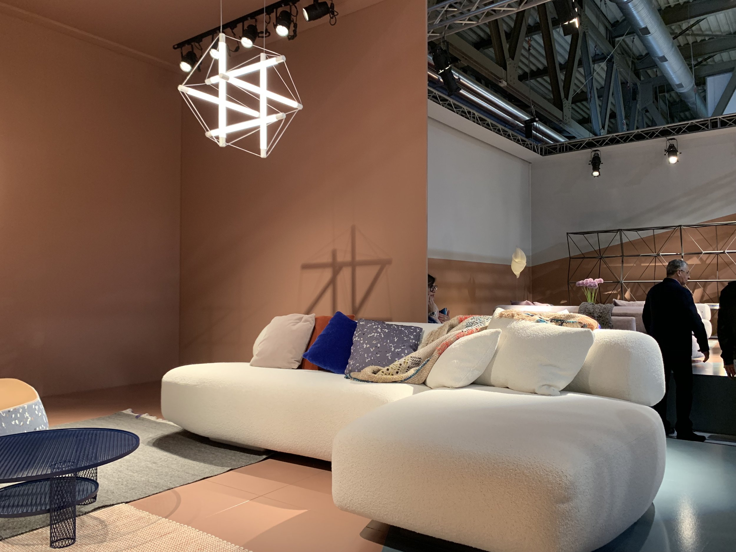 New Gogan sofa by  Patricia Urquiola  for Moroso - part of a modular collection inspired by Japanese stones