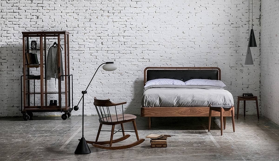 Stellarworks debuts new collections at Galleria Theatro Manzoni. Shown:  Space Copenhagen' s  Dawn Bed I ,  CREME'S  Exchange Rocking Chair,  Neri&Hu' s  Cabinet of Curiosity - Dress.