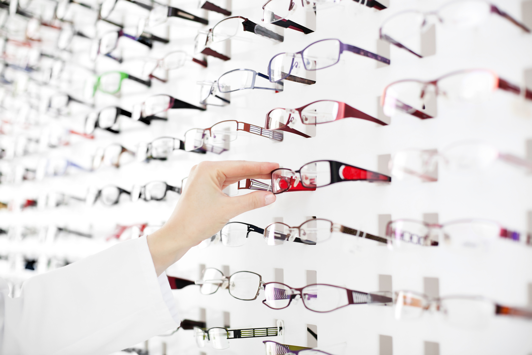 Huge choice of glasses from all the top brands