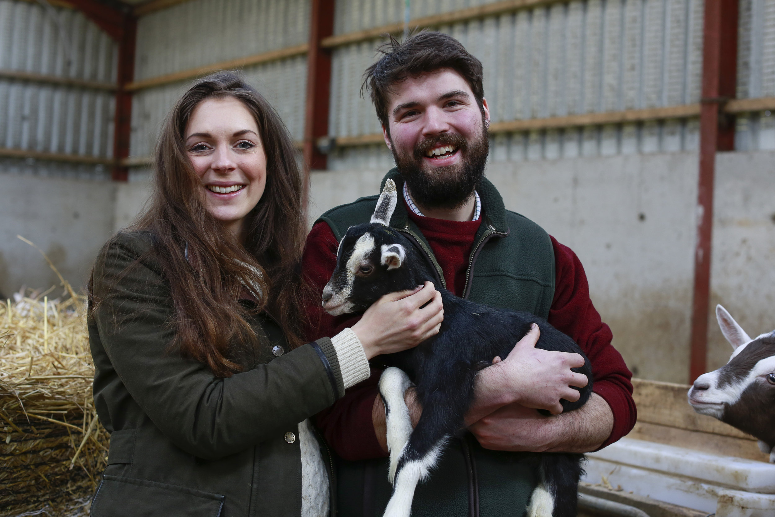 Becky and Charlie Cole at Broughgammon Farm, Co. Antrim