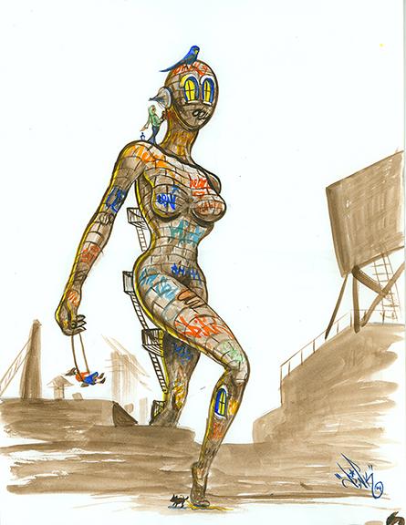 Brick Woman