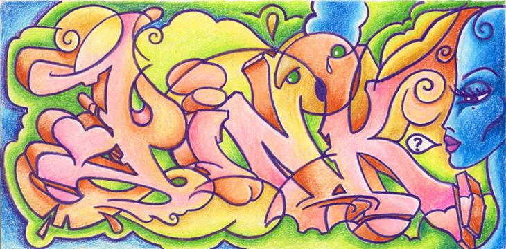 Pink Triptych Sketch