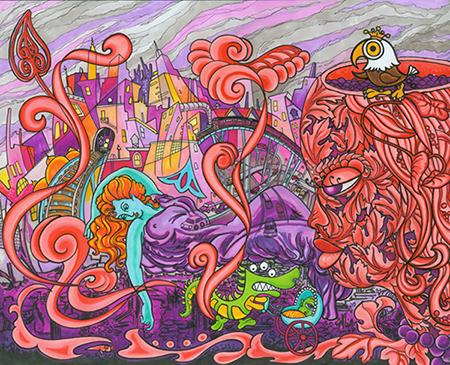 Miami Mural Illustration