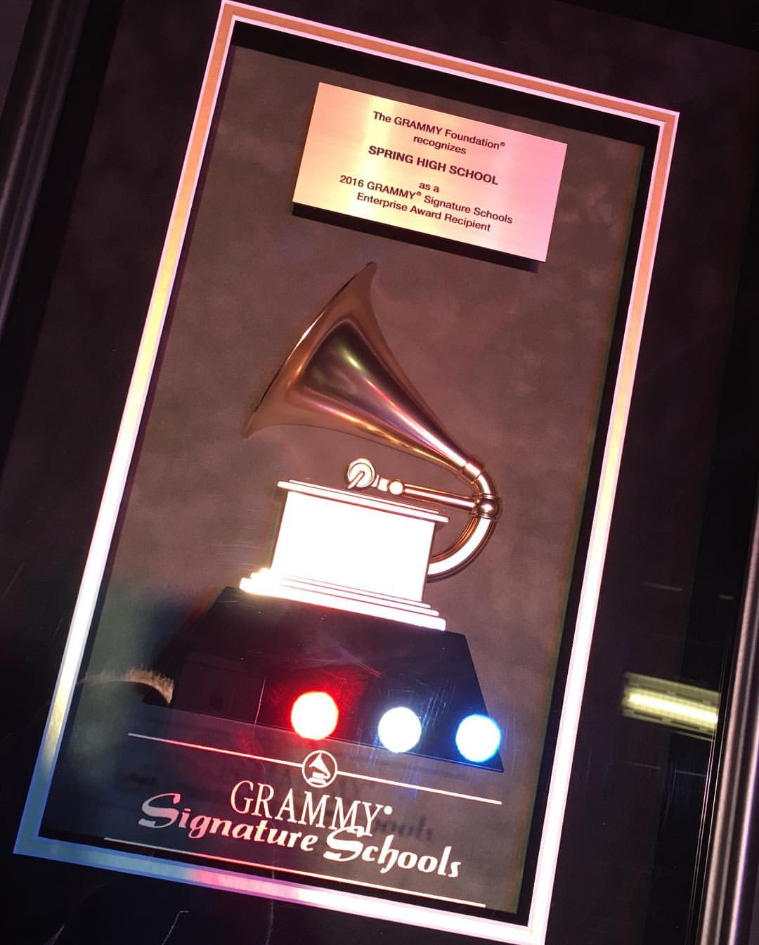 Yep, that's a Grammy Award!