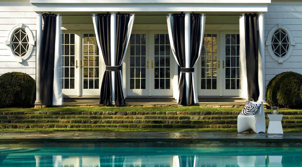 Outdoor Vertical Striped Drapes