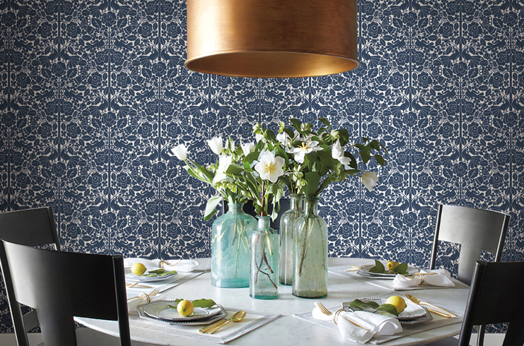 Magnolia Home Wallpaper in the whimsical European folk-inspired wallpaper   Fairy Tales  .