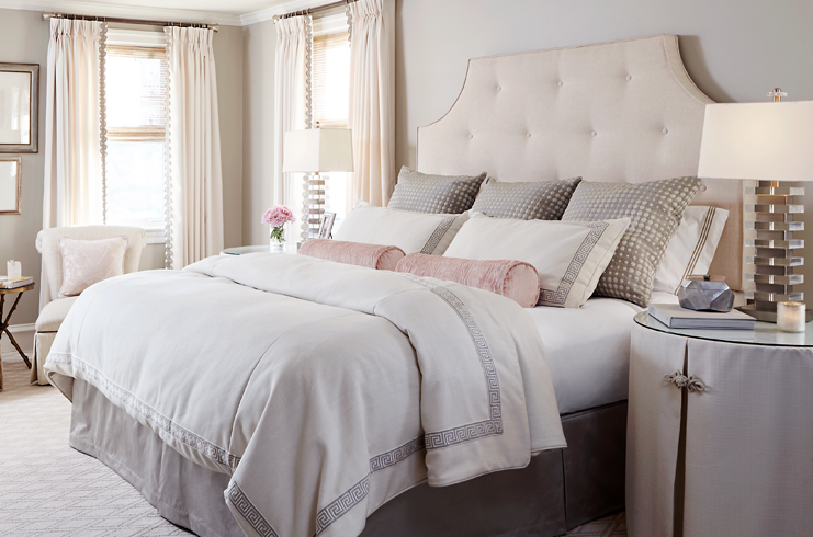 Custom   bedding   turns an ordinary bedroom into extraordinary and is always the perfect fit!
