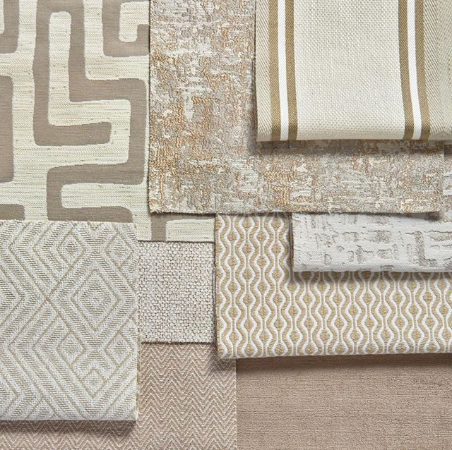 When working with neutrals, mix and match fabrics with different tones, patterns, and textures to create a layered look. Plus, now you can get chic creams, crisp whites, and beautiful taupes in performance fabrics! No more stressing about stains. #performancefabrics #CalicoPerforms #CalicoDesign #homedecor #neutrals #interiordesign