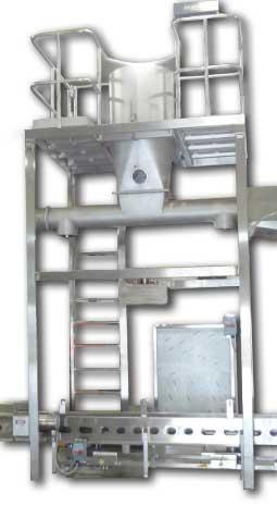 Dual Curd Cyclone Fill Station, 640lb Blocks, 500lb Barrels, Initial Fill, Pre-Press, Final Fill