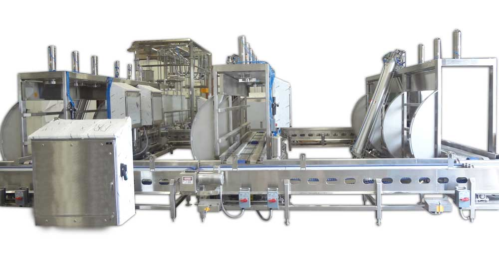 Fully Automated Stainless Steel 500 lb Barrels, 640 Blocks, or Mold Tip Press Stations