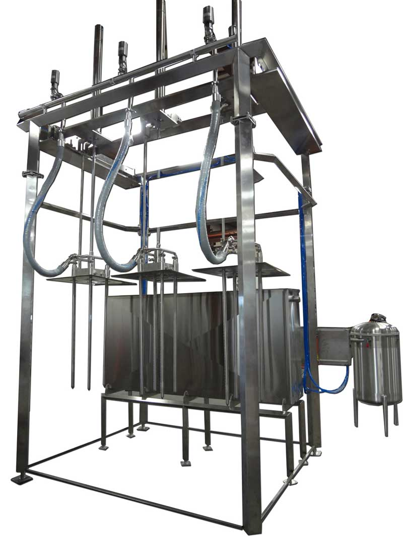 Vacuum System to Retrieve Whey from Probes to Collection Tank