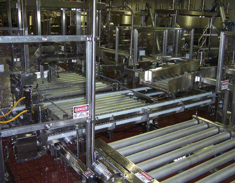 Automated 500 lb Cheese Barrel Palletizer with Sample System
