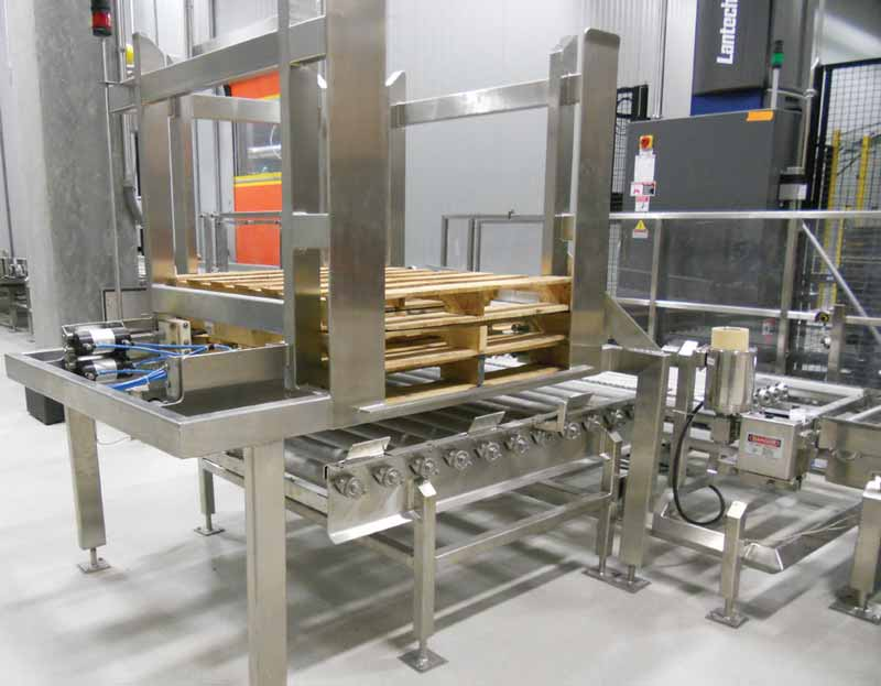 Automated Pallet Feeders - Loading and Denester Option for Palletizer