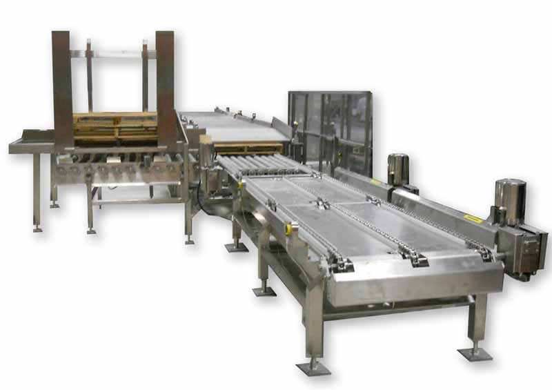 Automated Sanitary Powder Tote Handling and Palletizing System