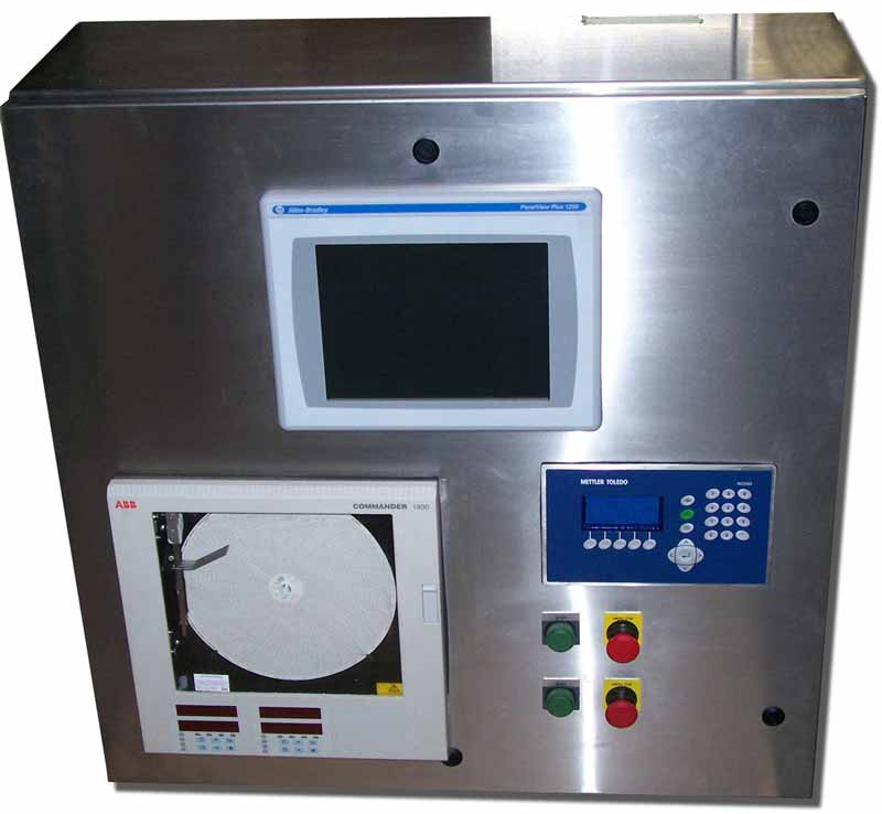 Custom UL Listed Panels, Chart Recorders, Load Cell Weight Displays, Chart Recorders, HMI Touch Screens