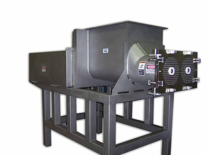 640lb, 500lb, 40lb Single and Twin Screw Cheese Grinders - Fast Throughputs