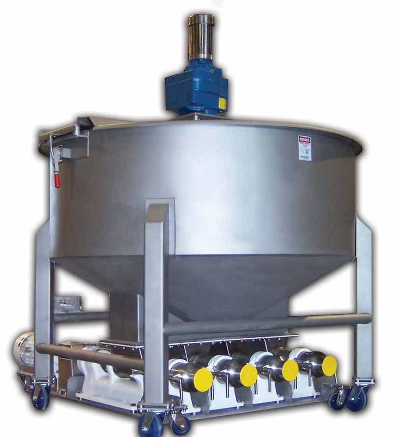 Stainless Steel Surge Hopper with Agitation - Sized to meet required throughputs