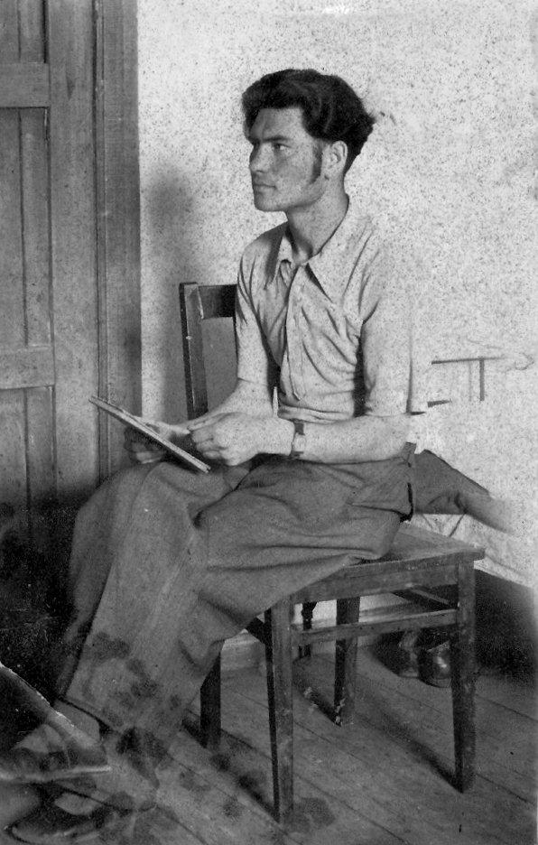 Chetkov in 1946. Image probably taken just after Chetkov got out of the army