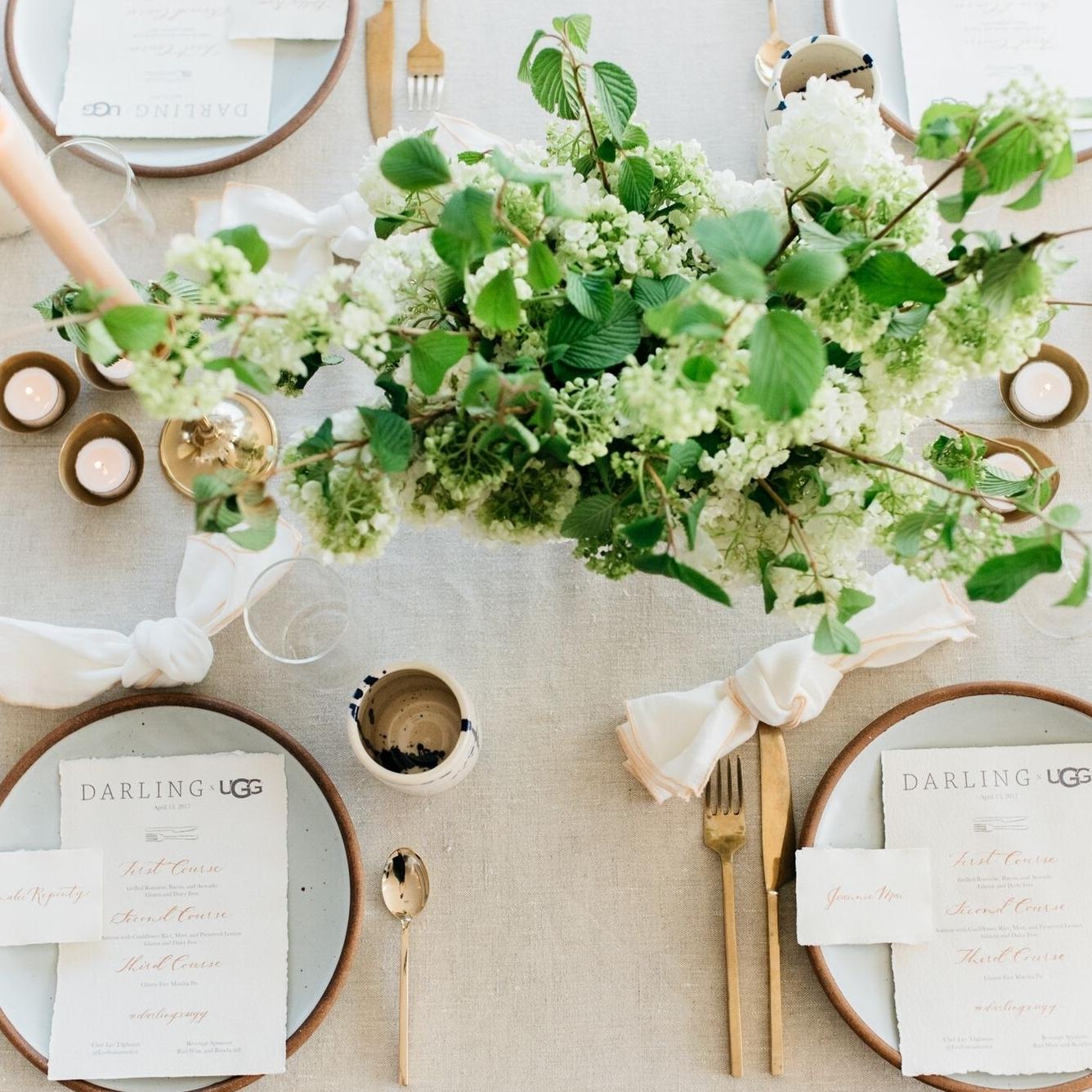 DARLING X UGG Dinner, Darling Magazine  I  Coordination,Flowers, Design:  Chelsea Carter Events I  Photographer : Cara Robbins