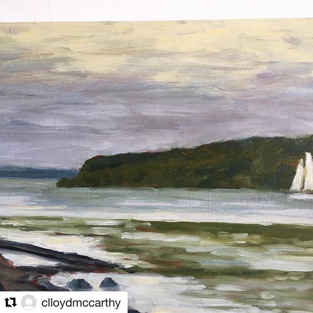 #Repost of a new painting by our founder Laena's mom, @clloydmccarthy ・・・ On the River