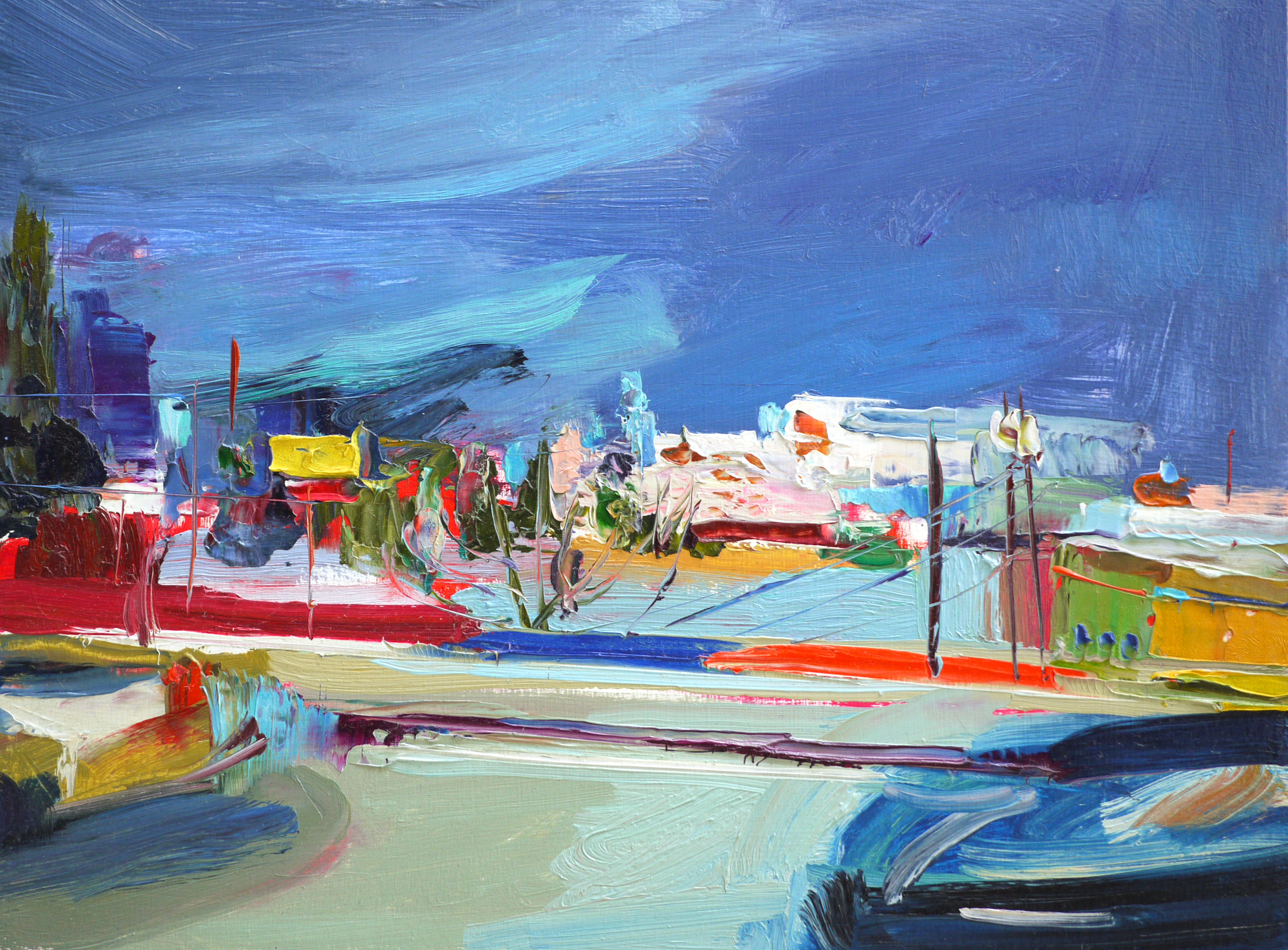 """Westward Dash at 5,  9""""x12"""",  Oil on wood  , 2015."""