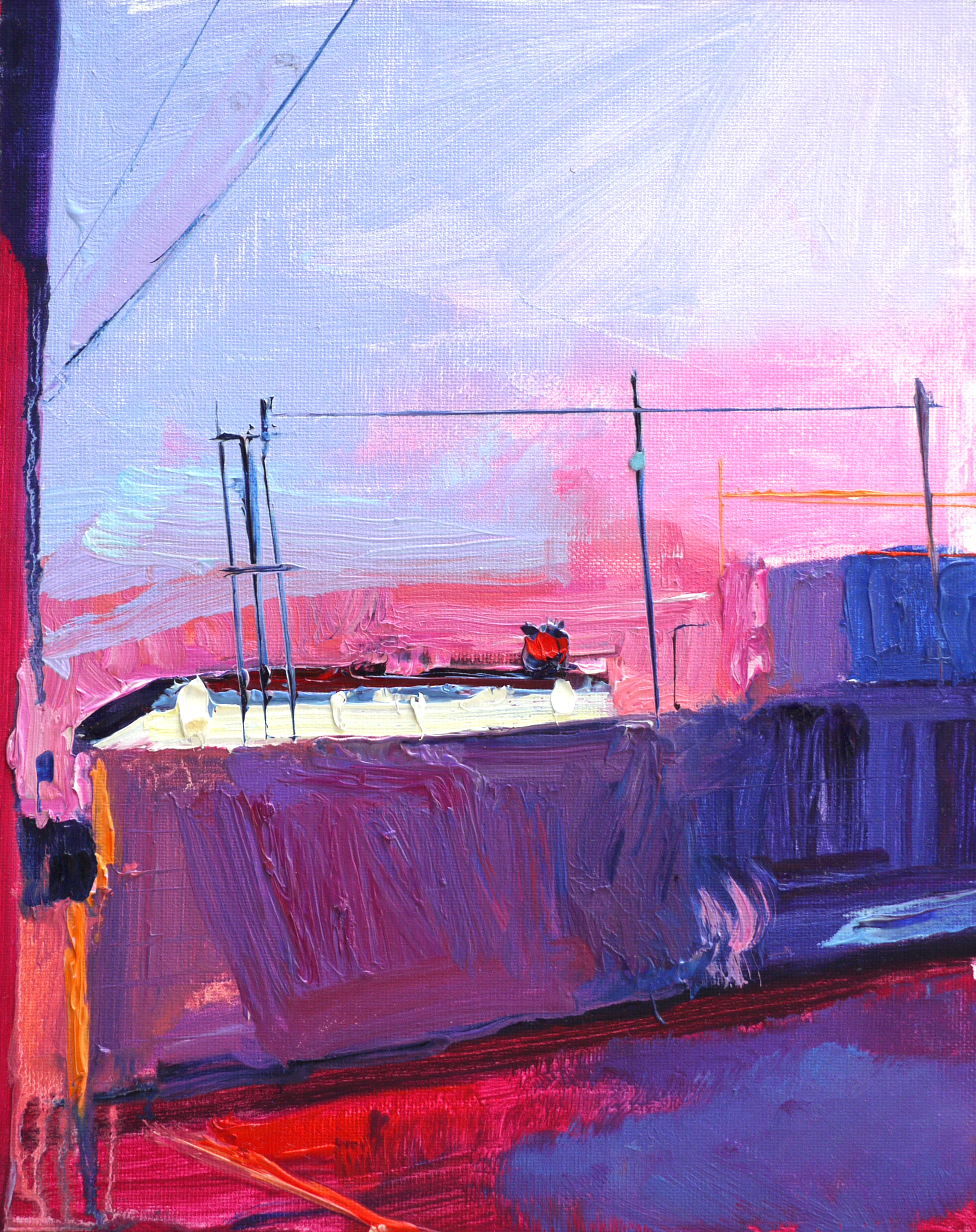 "Magenta 76,   9""x12"",   Oil on canvas panel  , 2015."
