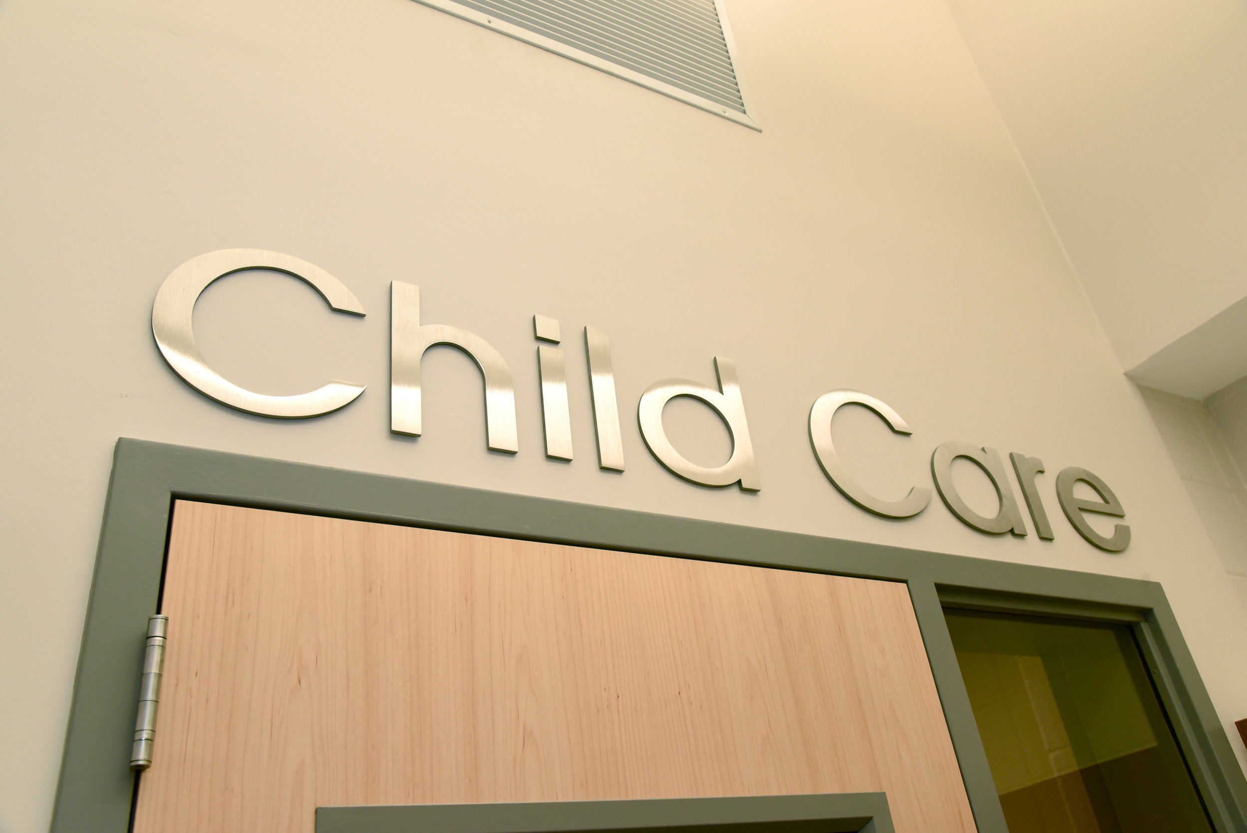 Our newly renovated 2500+ square feet  Child Care  offers a variety of activities for children ages 6 weeks to 11 years.