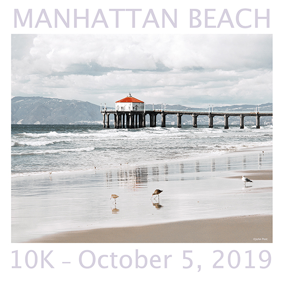 2019 Manhattan Beach 10k Finisher Tee