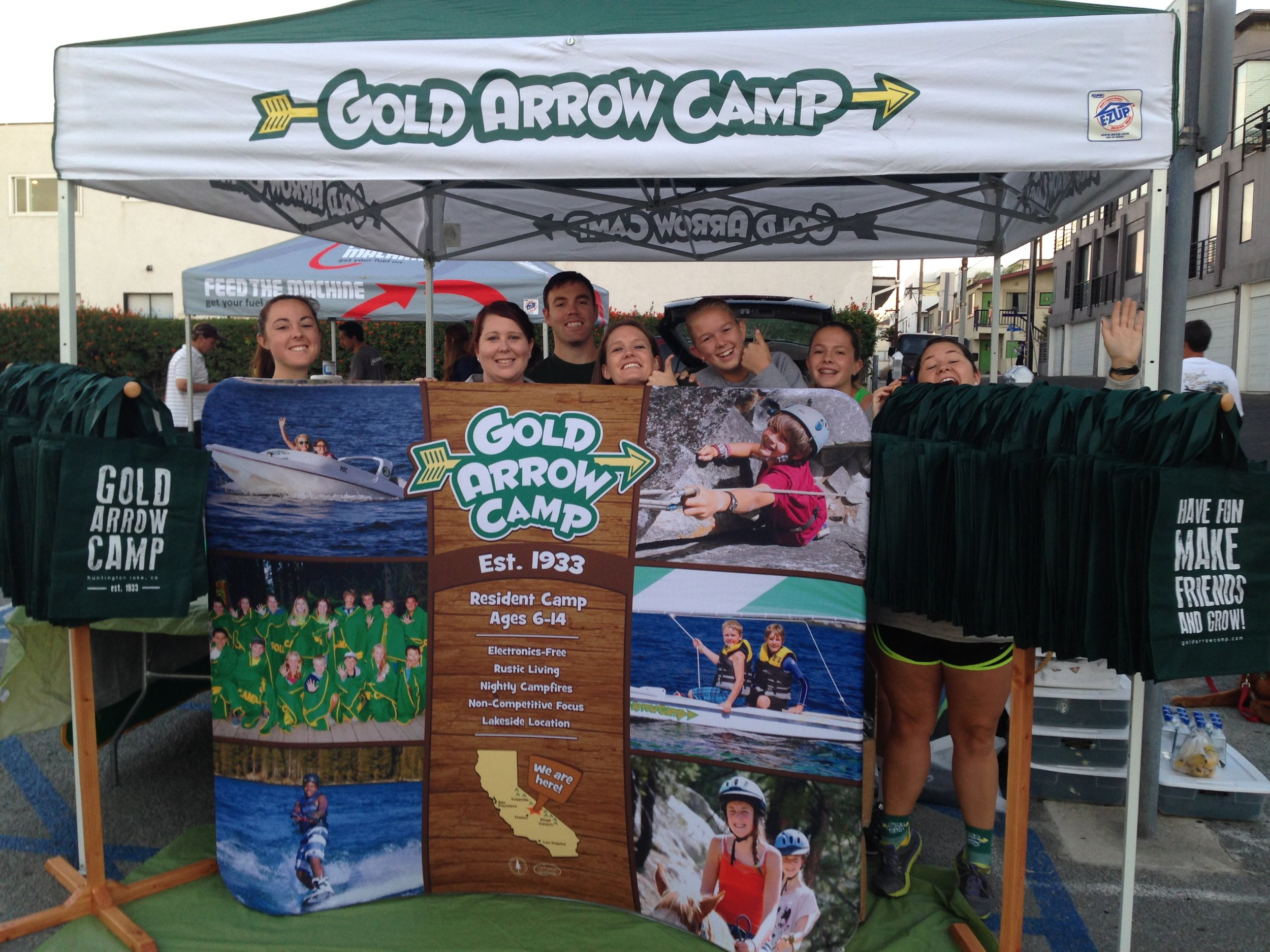Gold Arrow Camp at the 2018 Manhattan Beach 10k Expo.