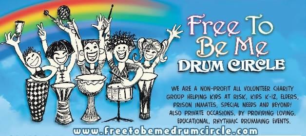 Free To Be Me Drum Circle Logo.