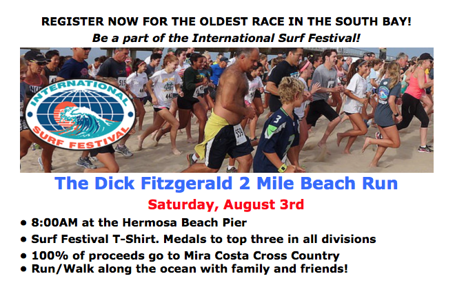 The Dick Fitzgerald 2 Mile Beach Run 2019 Flyer.