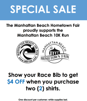 Manhattan Beach Fair MB10k Bib Promo