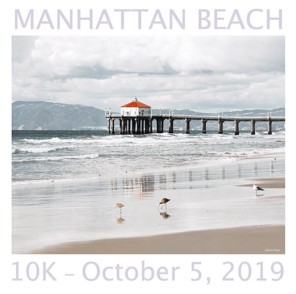 Manhattan Beach 10k Finisher Tee Image by John Post.