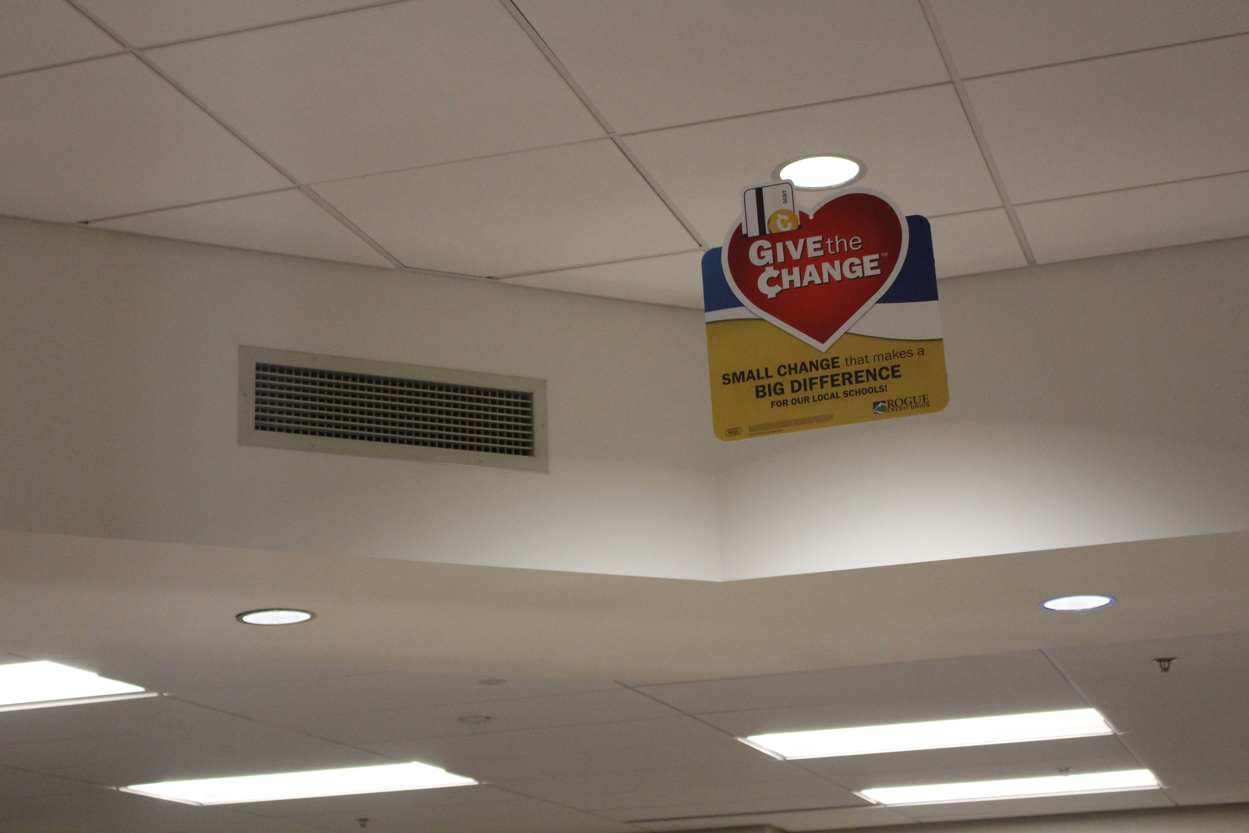 Ceiling Hangers - Done on Corex that had been router cut, printed on both sides, then hole punched on the top.