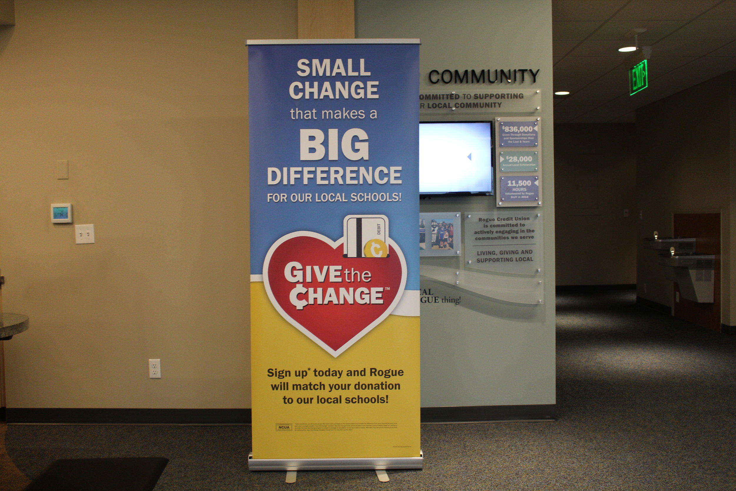 Retractable Banner - Done on Hydrsol and mounted into a retractable banner stand.